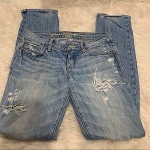 Ruehl No. 925 New York 10014 ripped denim jeans
